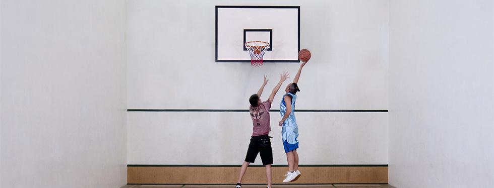 Indoor basketball court at Hong Kong