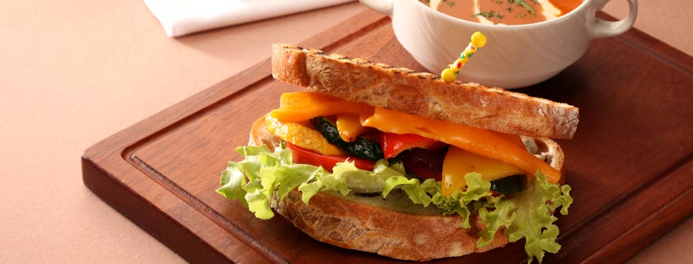 Lifestyle Café Health Sandwich
